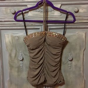 Gorgeous Bebe halter top! Size XS.